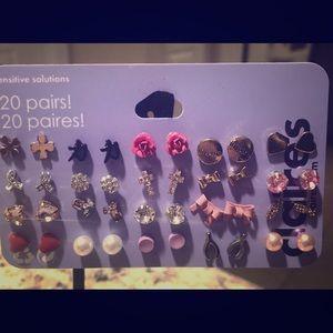 20 pairs of nickel free earrings